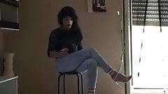 Sexy Italiana Latina Ghetto Bitch Disco Slut Whore Ladyboy