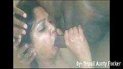 Indian aunty sushma sucking cock