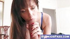 Loving MILF Alana Cruise makes stepson cum after POV blowjob