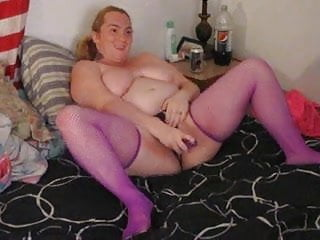 me playing with my new dildo