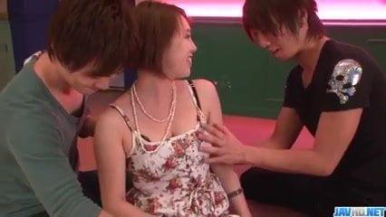 Steamy threesome scenes along mature Yurika Momo