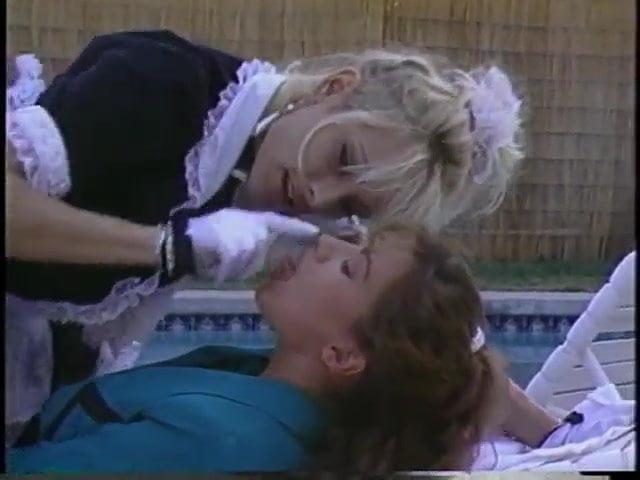 Lesbian maid bathtub
