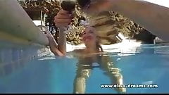 Flashing and public sex video in a pool