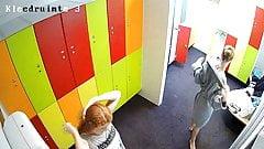 Hidden camera in the locker room