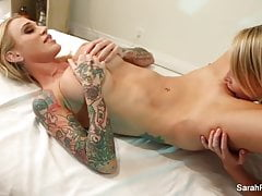 Sarah Jessie gets an erotic massage from Alix Lynx