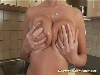 big natural breast stepmom alone at home