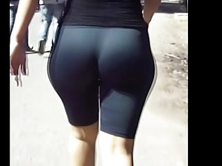 Tight spandex shorts pawg candid wide hips juicy ass (mod)