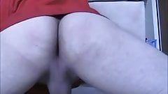 shaking my ass, jerking my cock and shooting hot thick cum