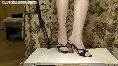 Crush the cock under heels