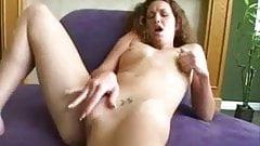 Solo girl masturbating