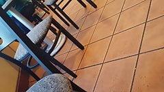 Candid Cafe Bookstore Flip Flop Feet