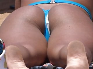 Perfect And Delicious Brunette Ass On The Beach