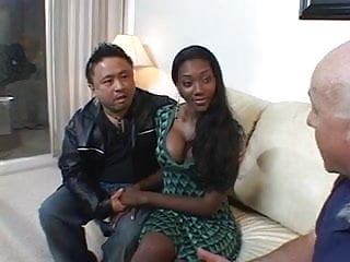Ebony hottie rides a big cock