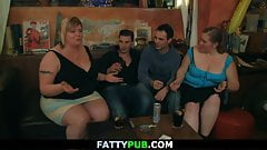 Wild huge tits group bbw party