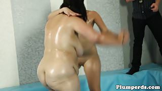 Thick babe wrestling plumper bbw before bj