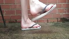 Filthy feet and Flip Flop Dangle