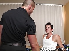 massage and hard barebacking with twink and stepdaddy