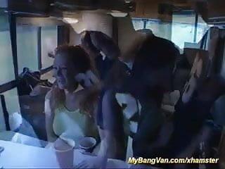 Redheads big tits gangbang - Her first bangvan anal gangbang