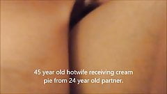 45 year old wife getting creampie from much younger man