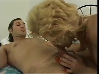 Older milf pleases younger man
