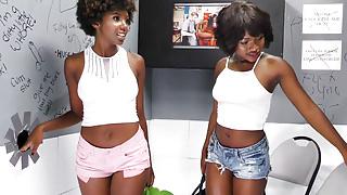 Noemie Bilas & Daizy Cooper Fucks White Big Dick - Gloryhole