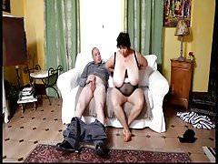 Big boobs old grandma Olga