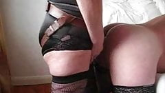 Husband takes a huge dong up his ass from wife