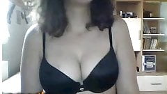 Turkish young attractive girl show only bra