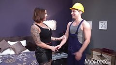 MOM Tattooed alt MILF Heidi Van Horny gagging face fuck