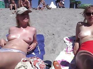 Topless Danish girls at the Roskilde Festival