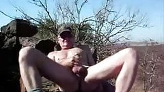 jerking mi cock outdoor