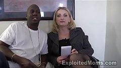 Milf Secretary w Booty in Interracial Video