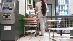 Latina teen at the laundromat
