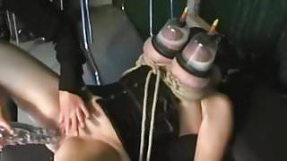 Huge lactating tits in vacuum.mp4