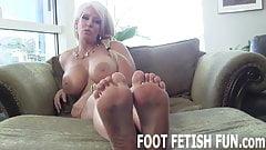 I need a slave boy who will worship my feet every night