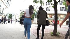 un jean, un superbe cul dans les rues de buenos aires