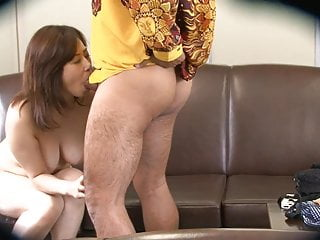 Preview 5 of Dirty dude gets to bang a naughty brunette on the sofa