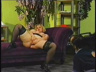 Cute bbw blonde fucks herself with a vibrator while getting anal pounding
