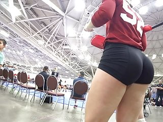 Thick Bubble Butt Volleyball Teen In Spandex Shorts Repost