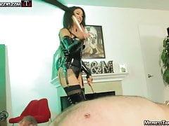 Mistress Tangent nipple torment femdom whipping dominatrix