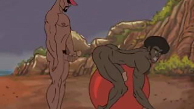 Cartoon black gay porn