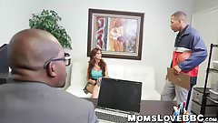 Angry big ass MILF railed deeply in interracial threesome