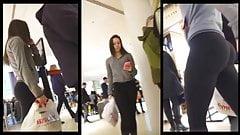 Teen Voyeur - Brunette Leggings PAWG