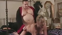 Fat guy hypnotizes hot blonde to let her do what he wants