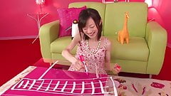 Japanese babe gets a toy in her tight pussy