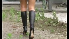 Walk in boots