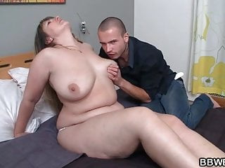 Chubby chick gets pussy pounded after hot blowjob