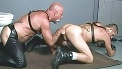 Leather gay jerking off images