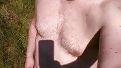 algaycho nude selfie in the wood