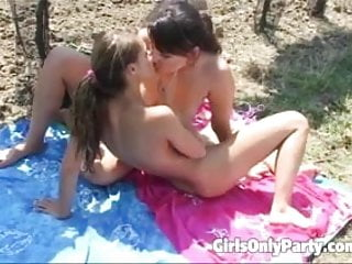 Two Sexy Girls Having Wild Sex Outdoors